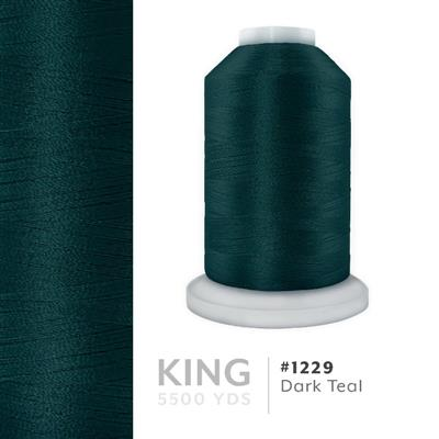 Dark Teal # 1229 Iris Trilobal Polyester Thread - 5500 Yds MAIN