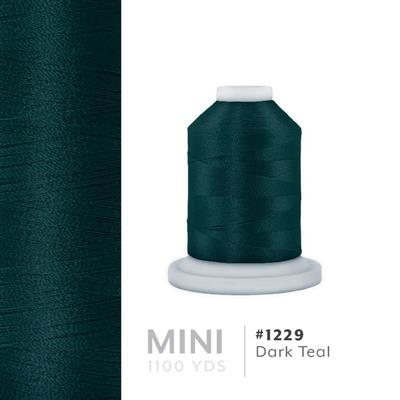 Dark Teal # 1229 Iris Polyester Embroidery Thread - 1100 Yds MAIN