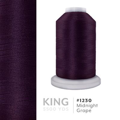 Midnight Grape # 1230 Iris Trilobal Polyester Thread - 5500 Yds MAIN