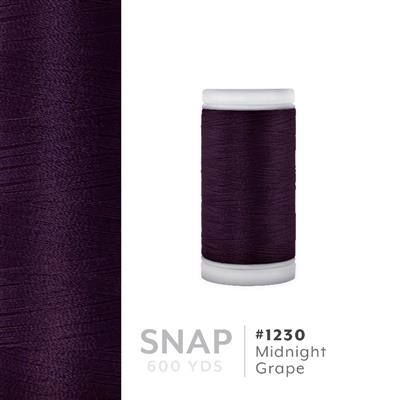 Midnight Grape # 1230 Iris Polyester Embroidery Thread - 600 Yd Snap Spool MAIN