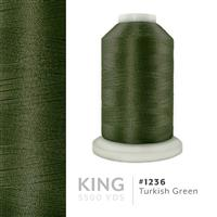 Turkish Green # 1236 Iris Trilobal Polyester Machine Embroidery & Quilting Thread - 5500 Yds THUMBNAIL