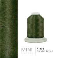 Turkish Green # 1236 Iris Polyester Embroidery Thread - 1100 Yds THUMBNAIL
