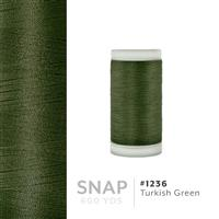 Turkish Green # 1236 Iris Polyester Embroidery Thread - 600 Yd Snap Spool THUMBNAIL