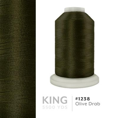 Olive Drab # 1238 Iris Trilobal Polyester Thread - 5500 Yds MAIN