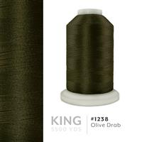 Olive Drab # 1238 Iris Trilobal Polyester Machine Embroidery & Quilting Thread - 5500 Yds THUMBNAIL
