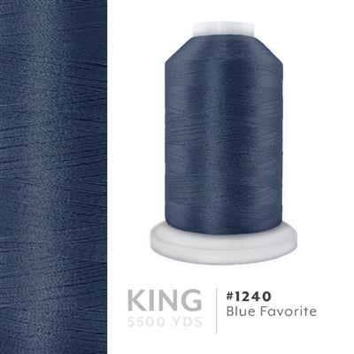 Blue Favorite # 1240 Iris Trilobal Polyester Thread - 5500 Yds MAIN