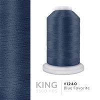 Blue Favorite # 1240 Iris Trilobal Polyester Machine Embroidery & Quilting Thread - 5500 Yds THUMBNAIL
