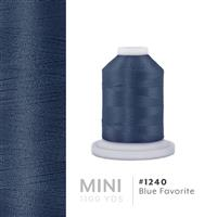 Blue Favorite # 1240 Iris Polyester Embroidery Thread - 1100 Yds THUMBNAIL