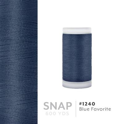 Blue Favorite # 1240 Iris Polyester Embroidery Thread - 600 Yd Snap Spool MAIN
