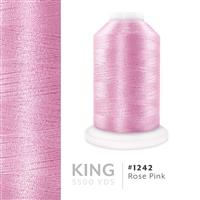 Rose Pink # 1242 Iris Trilobal Polyester Machine Embroidery & Quilting Thread - 5500 Yds THUMBNAIL