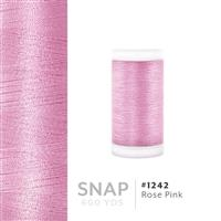 Rose Pink # 1242 Iris Polyester Embroidery Thread - 600 Yd Snap Spool THUMBNAIL