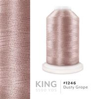 Dusty Grape # 1246 Iris Trilobal Polyester Machine Embroidery & Quilting Thread - 5500 Yds THUMBNAIL