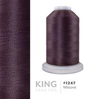 Mauve # 1247 Iris Trilobal Polyester Machine Embroidery & Quilting Thread - 5500 Yds THUMBNAIL