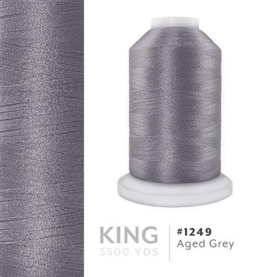 Aged Grey # 1249 Iris Trilobal Polyester Thread - 5500 Yds MAIN
