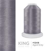 Aged Grey # 1249 Iris Trilobal Polyester Machine Embroidery & Quilting Thread - 5500 Yds THUMBNAIL