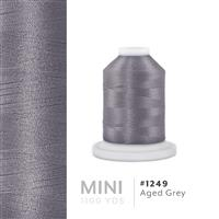 Aged Grey # 1249 Iris Polyester Embroidery Thread - 1100 Yds THUMBNAIL