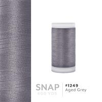 Aged Grey # 1249 Iris Polyester Embroidery Thread - 600 Yd Snap Spool THUMBNAIL