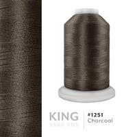 Charcoal # 1251 Iris Trilobal Polyester Machine Embroidery & Quilting Thread - 5500 Yds THUMBNAIL