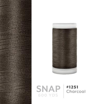 Charcoal # 1251 Iris Polyester Embroidery Thread - 600 Yd Snap Spool MAIN