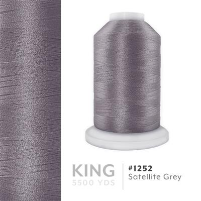 Satellite Grey # 1252 Iris Trilobal Polyester Thread - 5500 Yds MAIN