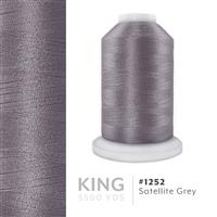 Satellite Grey # 1252 Iris Trilobal Polyester Machine Embroidery & Quilting Thread - 5500 Yds THUMBNAIL
