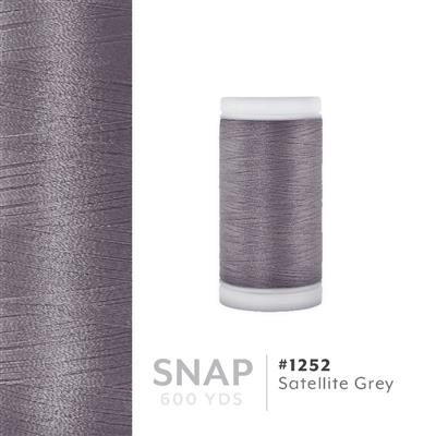Satellite Grey # 1252 Iris Polyester Embroidery Thread - 600 Yd Snap Spool MAIN