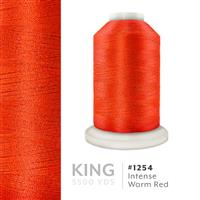 Intense Warm Red # 1254 Iris Trilobal Polyester Machine Embroidery & Quilting Thread - 5500 Yds THUMBNAIL