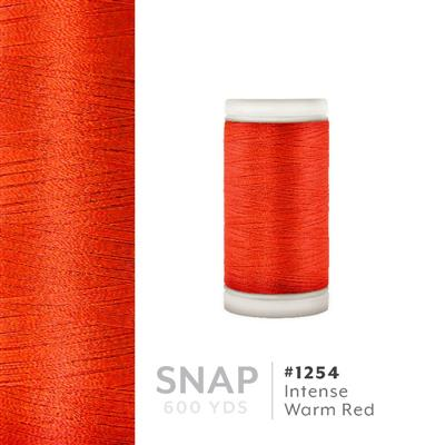 Intense Warm Red # 1254 Iris Polyester Embroidery Thread - 600 Yd Snap Spool MAIN