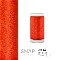 Intense Warm Red # 1254 Iris Polyester Embroidery Thread - 600 Yd Snap Spool THUMBNAIL