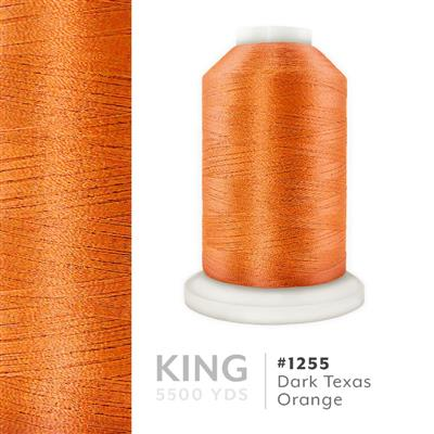 Dark Texas Orange # 1255 Iris Trilobal Polyester Thread - 5500 Yds MAIN