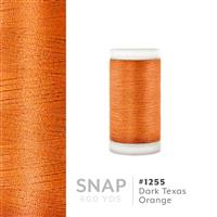 Dark Texas Orange # 1255 Iris Polyester Embroidery Thread - 600 Yd Snap Spool THUMBNAIL