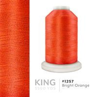 Bright Orange # 1257 Iris Trilobal Polyester Machine Embroidery & Quilting Thread - 5500 Yds THUMBNAIL