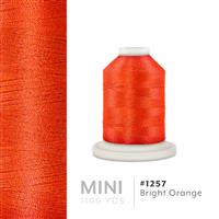 Bright Orange # 1257 Iris Polyester Embroidery Thread - 1100 Yds THUMBNAIL