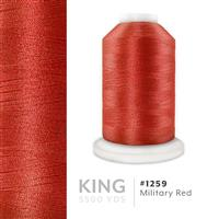 Military Red # 1259 Iris Trilobal Polyester Machine Embroidery & Quilting Thread - 5500 Yds THUMBNAIL