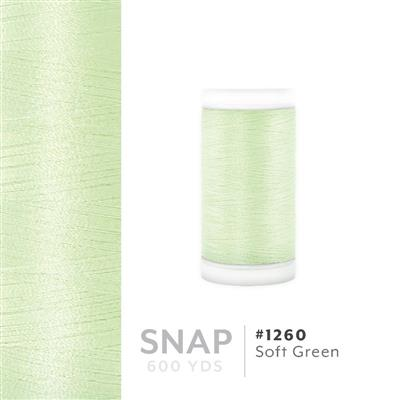 Soft Green # 1260 Iris Polyester Embroidery Thread - 600 Yd Snap Spool MAIN