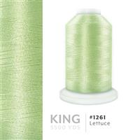 Lettuce # 1261 Iris Trilobal Polyester Machine Embroidery & Quilting Thread - 5500 Yds THUMBNAIL