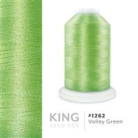 Valley Green # 1262 Iris Trilobal Polyester Machine Embroidery & Quilting Thread - 5500 Yds THUMBNAIL