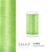 Easy Green # 1263 Iris Polyester Embroidery Thread - 600 Yd Snap Spool THUMBNAIL