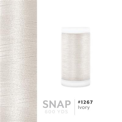 Ivory # 1267 Iris Polyester Embroidery Thread - 600 Yd Snap Spool MAIN