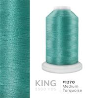 Medium Turquoise # 1270 Iris Trilobal Polyester Machine Embroidery & Quilting Thread - 5500 Yds THUMBNAIL