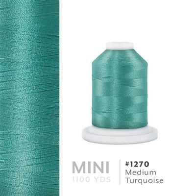 Medium Turquoise # 1270 Iris Polyester Embroidery Thread - 1100 Yds MAIN