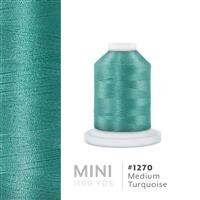 Medium Turquoise # 1270 Iris Polyester Embroidery Thread - 1100 Yds THUMBNAIL