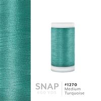 Medium Turquoise # 1270 Iris Polyester Embroidery Thread - 600 Yd Snap Spool THUMBNAIL