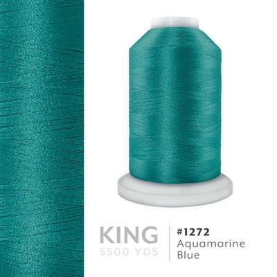 Aquamarine Blue # 1272 Iris Trilobal Polyester Thread - 5500 Yds MAIN