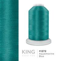 Aquamarine Blue # 1272 Iris Trilobal Polyester Machine Embroidery & Quilting Thread - 5500 Yds THUMBNAIL