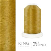 Golden Pond # 1274 Iris Trilobal Polyester Machine Embroidery & Quilting Thread - 5500 Yds THUMBNAIL