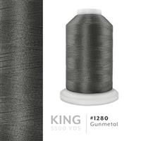 Gunmetal # 1280 Iris Trilobal Polyester Machine Embroidery & Quilting Thread - 5500 Yds THUMBNAIL