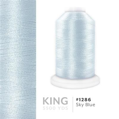 Sky Blue # 1286 Iris Trilobal Polyester Thread - 5500 Yds MAIN