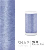 Glacier Blue # 1288 Iris Polyester Embroidery Thread - 600 Yd Snap Spool THUMBNAIL