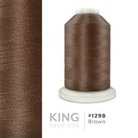 Brown # 1298 Iris Trilobal Polyester Machine Embroidery & Quilting Thread - 5500 Yds THUMBNAIL